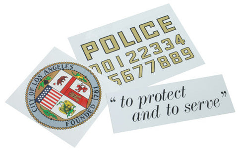 LAPD Police Sticker (For Car Door Set)