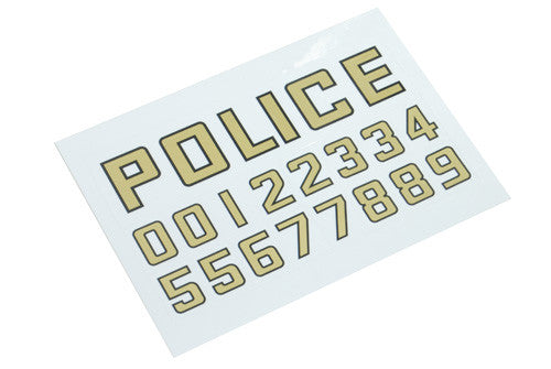 LAPD Police Sticker (Police/Number)