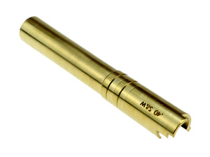 CowCow OB1 Stainless Steel Threaded Outer Barrel For TM Hi-Capa 5.1 (Gold) .40 S&W Marking