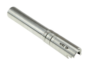 CowCow OB1 Stainless Steel Threaded Outer Barrel For TM Hi-Capa 5.1 (Silver) .40 S&W Marking