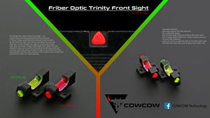 CowCow Fiber Optic Trinity Red Front Sight For Hi-Capa