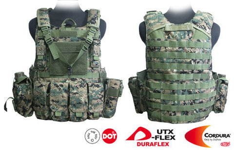 Force Recon Tactical Vest (Digital Woodland Camo)
