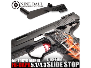 Nine Ball Custom Slide Stop For Marui Hi-capa 5.1/4.3 & M45A1 GBB (Black)