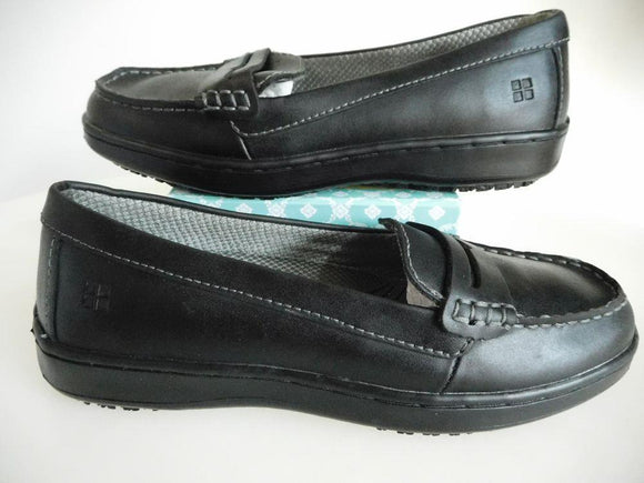 J Crew - Top Crews - Black Penny Loafers Oiled Leather - Size 6.5 - MINT CONDITION