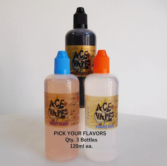Pick Your Flavors 3 x 120ml  ***ZERO NICOTINE ONLY***