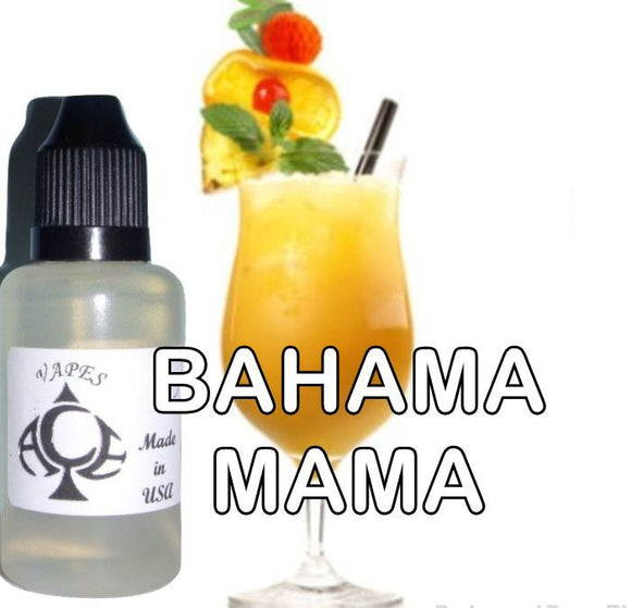 * BAHAMA MAMA * E-Liquid Vape Fluid Juice - Choose your Nicotine Level, PG/VG mix & bottle size