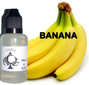 BANANA - E-LIQUID - 10-120ML - PICK SIZE - ZERO NICOTINE