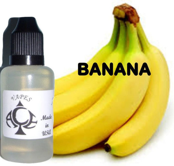 * BANANA * E-Liquid Vape Fluid Juice - Choose your Nicotine Level, PG/VG mix & bottle size