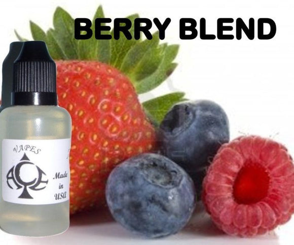 * BERRY BLEND * E-Liquid Vape Fluid Juice - Choose your Nicotine Level, PG/VG mix & bottle size