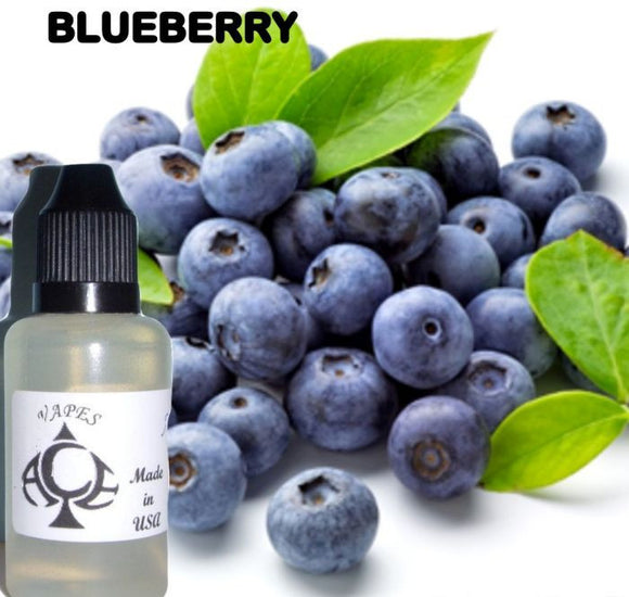 * BLUEBERRY * E-Liquid Vape Fluid Juice - Choose your Nicotine Level, PG/VG mix & bottle size