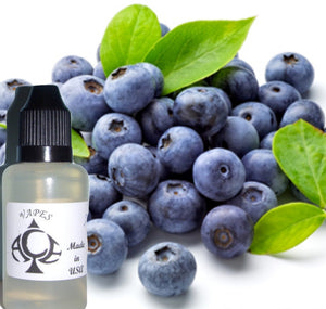 Blueberry Flavor E-Liquid Vape Fluid 10 ml. Bottle - 70/30 Vg/Pg - 100 Bottles Wholesale