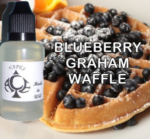 * BLUEBERRY GRAHAM WAFFLE * E-Liquid Vape Fluid Juice - Choose your Nicotine Level, PG/VG mix & bottle size