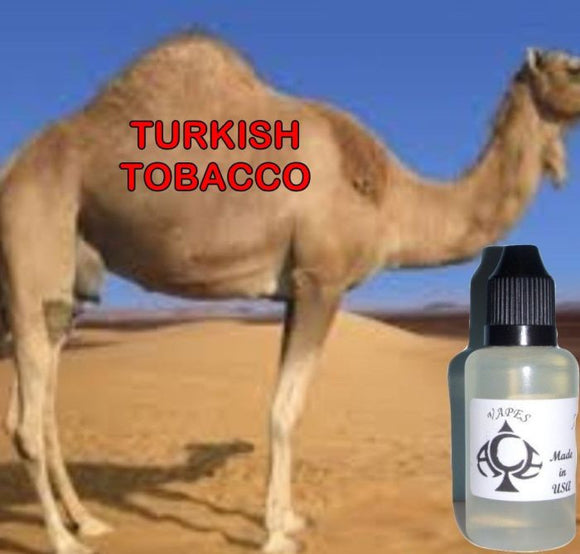* TURKISH CAMEL TOBACCO * E-Liquid Vape Fluid Juice - Choose your Nicotine Level, PG/VG mix & bottle size