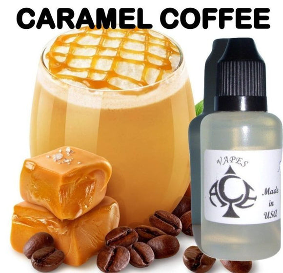 * CARAMEL COFFEE * E-Liquid Vape Fluid Juice - Choose your Nicotine Level, PG/VG mix & bottle size