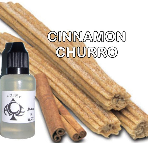 CINNAMON CHURRO - E-LIQUID - 10-120ML - PICK SIZE - ZERO NICOTINE