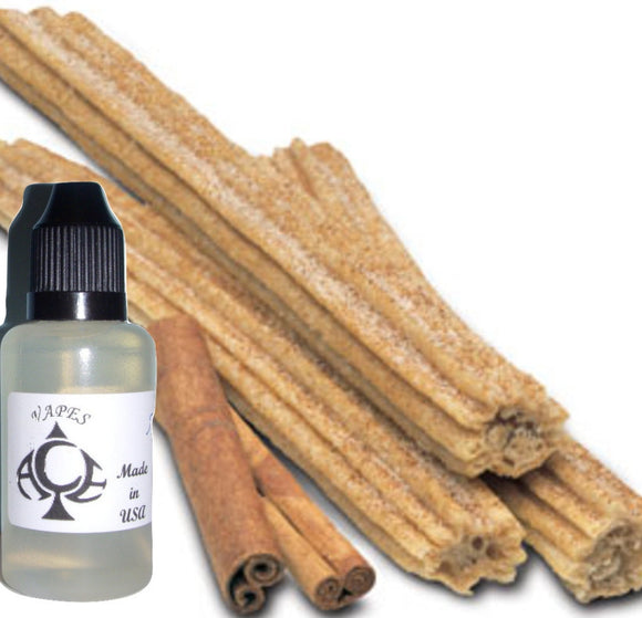 Cinnamon Churro E-Liquid Vape Fluid 10 ml. Bottle - 50/50 Vg/Pg - 100 Bottles Wholesale