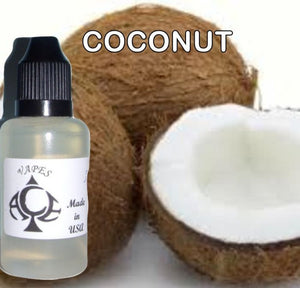 COCONUT - E-LIQUID - 10-120ML - PICK SIZE - ZERO NICOTINE
