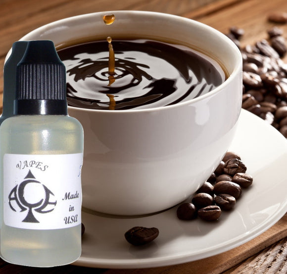 Coffee Flavor E-Liquid Vape Fluid 10 ml. Bottle - 50/50 Vg/Pg - 100 Bottles Wholesale