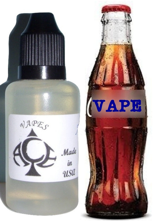 Cola Flavor E-Liquid Vape Fluid 10 ml. Bottle - 50/50 Vg/Pg - 100 Bottles Wholesale