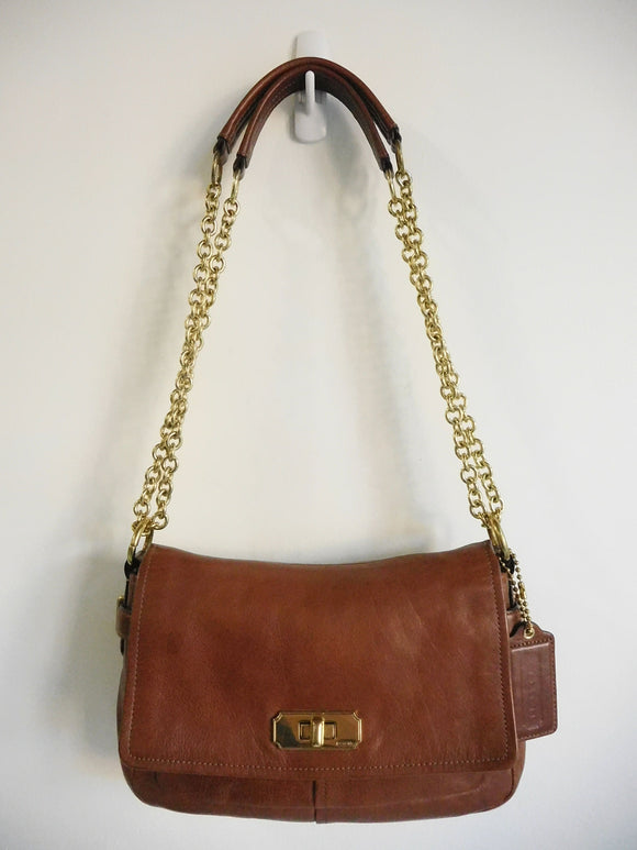 COACH Chelsea 17825 Whiskey Brown Convertible Crossbody Handbag