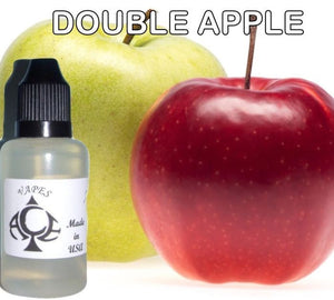 * DOUBLE APPLE * E-Liquid Vape Fluid Juice - Choose your Nicotine Level, PG/VG mix & bottle size
