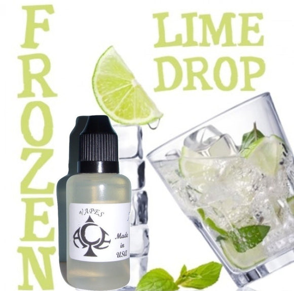 Frozen Lime Drop Flavor E-Liquid Vape Fluid 10 ml. Bottle - 70/30 Vg/Pg - 100 Bottles Wholesale