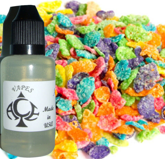 Fruit Pebbles Type E-Liquid Vape Fluid 10 ml. Bottle - 50/50 Vg/Pg - 100 Bottles Wholesale