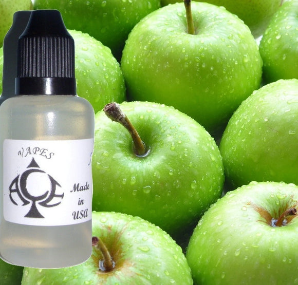 Green Apple Flavor E-Liquid Vape Fluid 10 ml. Bottle - 50/50 Vg/Pg - 100 Bottles Wholesale