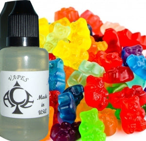 Gummi Bears Type E-Liquid Vape Fluid 10 ml. Bottle - 70/30 Vg/Pg - 100 Bottles Wholesale