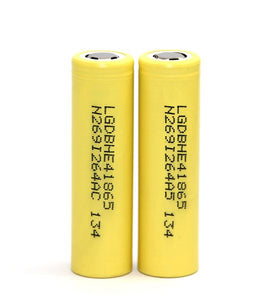 LG  HE4 18650 Battery - 2500mah - 20amp - quantity of Two (2)
