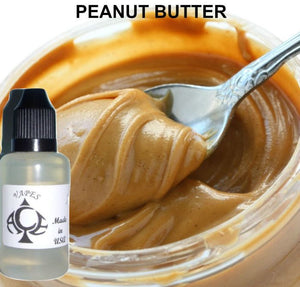 * PEANUT BUTTER * E-Liquid Vape Fluid Juice - Choose your Nicotine Level, PG/VG mix & bottle size