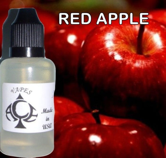 * RED APPLE * E-Liquid Vape Fluid Juice - Choose your Nicotine Level, PG/VG mix & bottle size