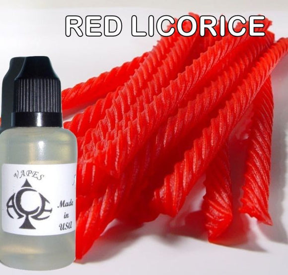 * RED LICORICE * E-Liquid Vape Fluid Juice - Choose your Nicotine Level, PG/VG mix & bottle size