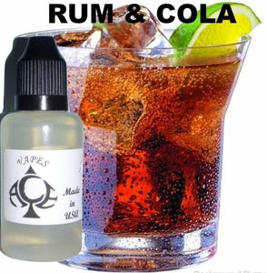 RUM & COLA - E-LIQUID - 10-120ML - PICK SIZE - ZERO NICOTINE
