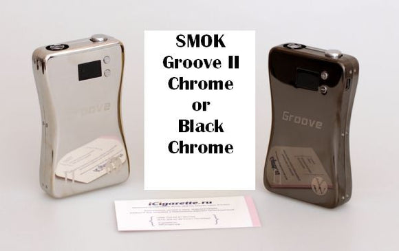**50% OFF ORIGINAL PRICE**SMOK Groove II - 3800mah - Variable Volts/Watt - MOD - Chrome & Black Chrome