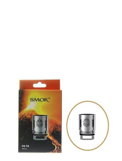 SMOK V8-T8 .15ohm Coil - Patented Octuple Coil for the TFV8 Cloud Beast