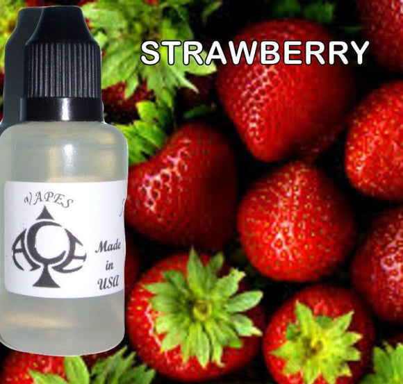 STRAWBERRY - E-LIQUID - 10-120ML - PICK SIZE - ZERO NICOTINE