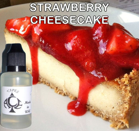 STRAWBERRY CHEESECAKE - E-LIQUID - 10-120ML - PICK SIZE - ZERO NICOTINE