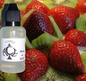 Strawberry Kiwi Flavor E-Liquid Vape Fluid 10 ml. Bottle - 50/50 Vg/Pg - 100 Bottles Wholesale