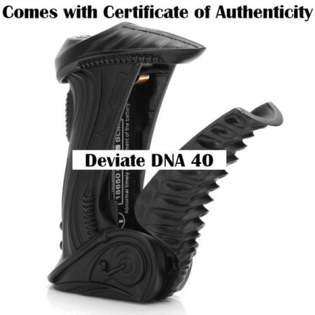 **50% OFF ORIGINAL PRICE**DEVIATE DNA 40 - BLACK - Cast Zinc - All Metal Frame - Collectible Grip MOD by Madvapes