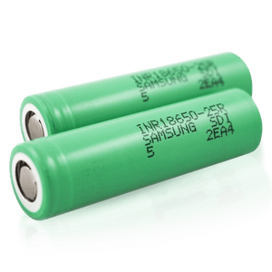 Samsung 25R 18650 2500mAh 20A Battery - quantity of Two (2)