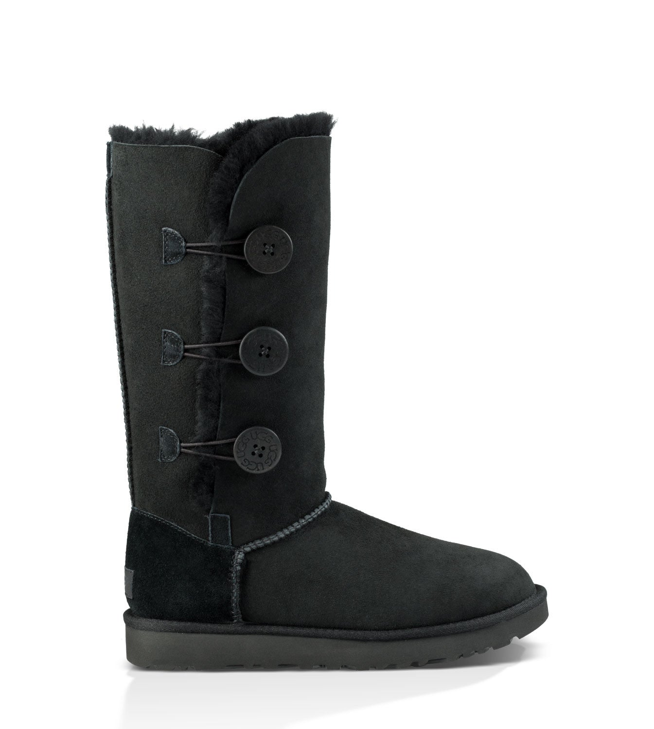 UGG Australia Women's Bailey Button Triplet II in Black