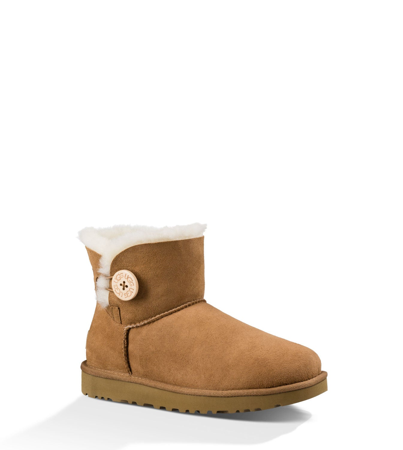 UGG Australia Women's Mini Bailey Button II in Chestnut