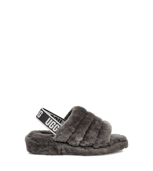 Ugg Women S Fluff Yeah Slide In Charcoal Welcome To