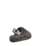 UGG Women's Fluff Yeah Slide in Charcoal