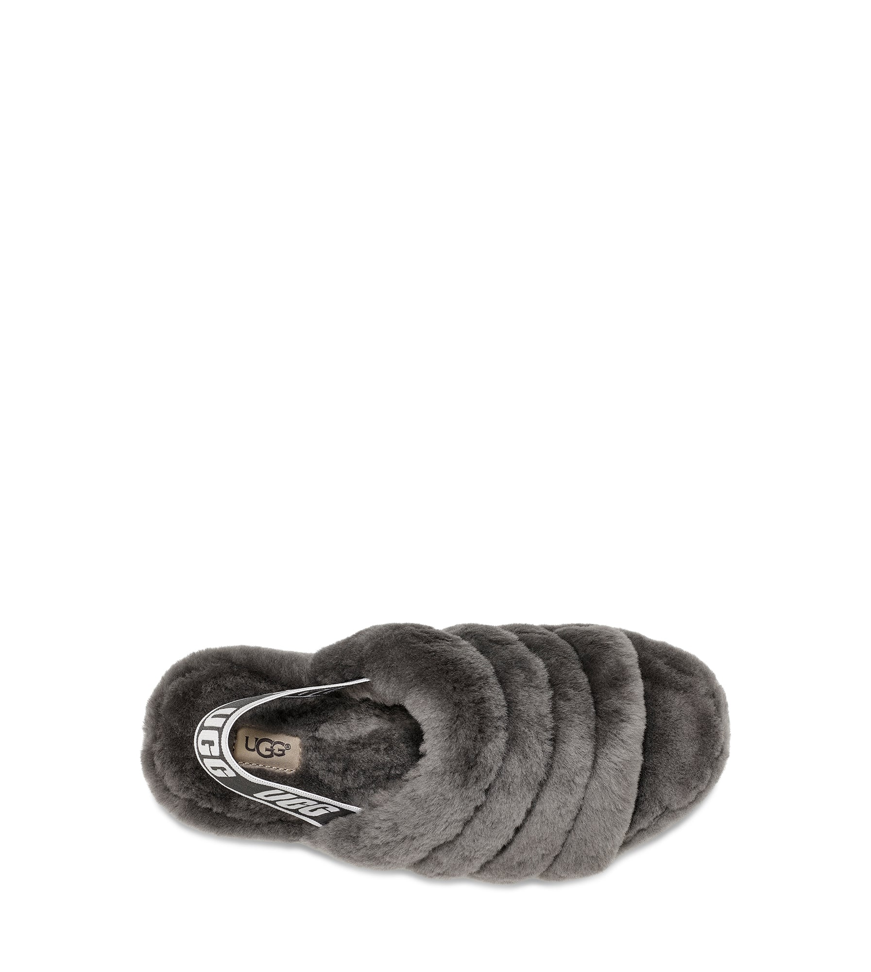 b99a3004bbfc UGG Women s Fluff Yeah Slide in Charcoal – Welcome to Footprint27.com