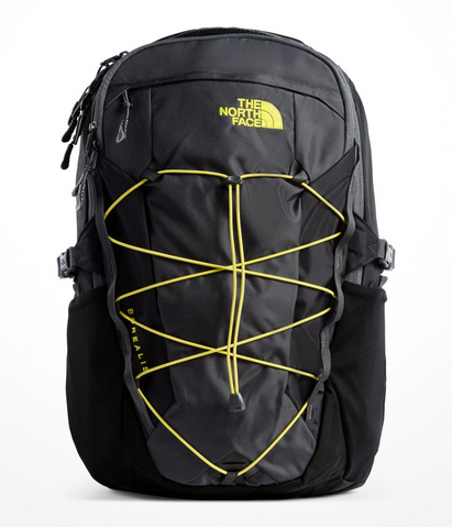 The North Face Men's Borealis Backpack in Asphalt Grey/Sulpher Spring Green