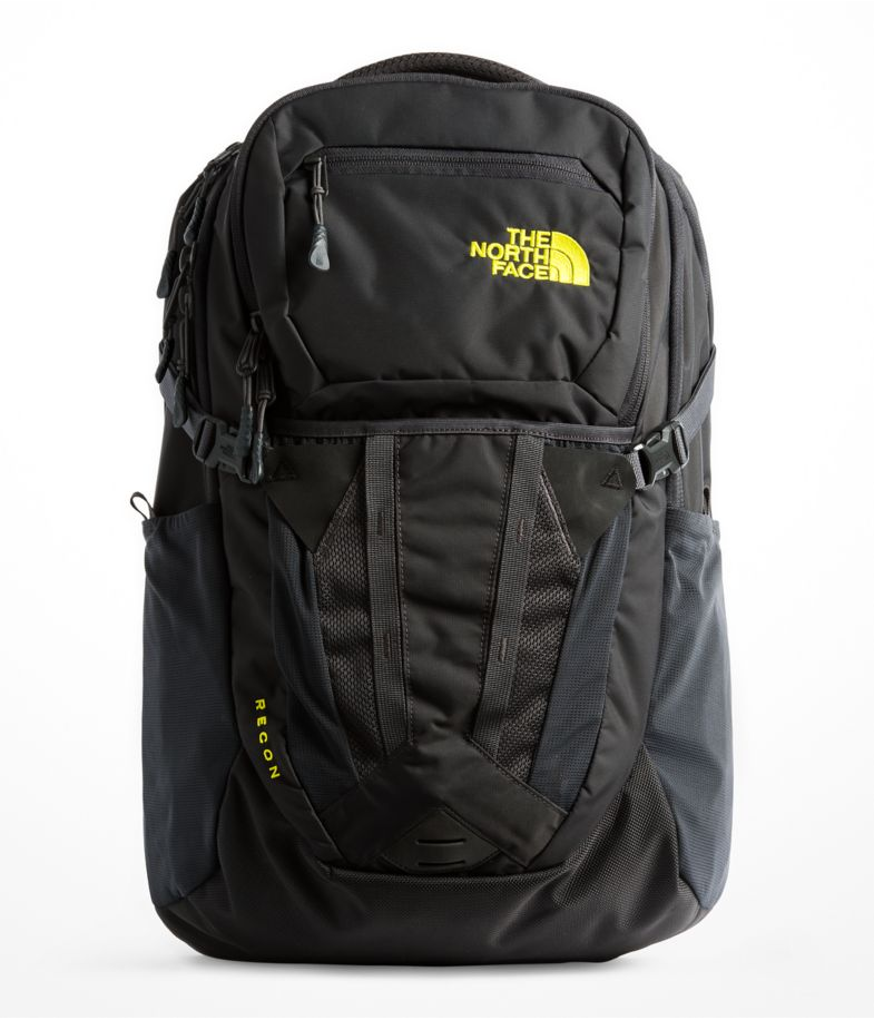 The North Face Men's Recon Backpack in Asphalt Grey/Sulpher Spring Green