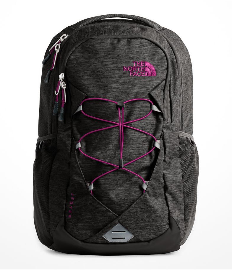 The North Face Women's Jester Backpack in Asphalt Grey Dark Heather/Dramatic Plum