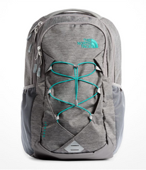 The North Face Women's Jester Backpack in Zinc Grey Light Heather/Kokomo Green